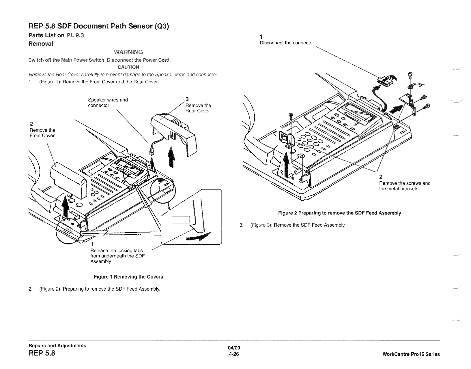 Xerox WorkCentre Pro-16 Parts List and Service Manual